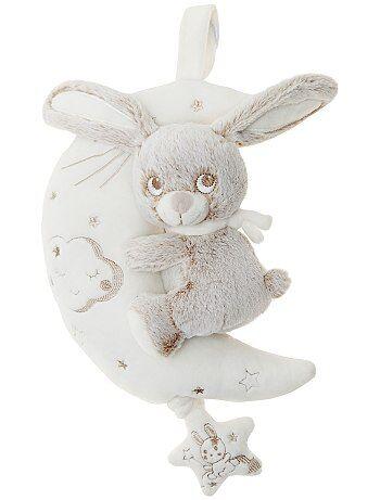 Muziekknuffel 'konijn op de maan' - Kiabi