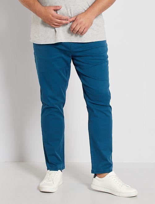 Nauwsluitende broek met 5 zakken L34                                                     blauw poseidon