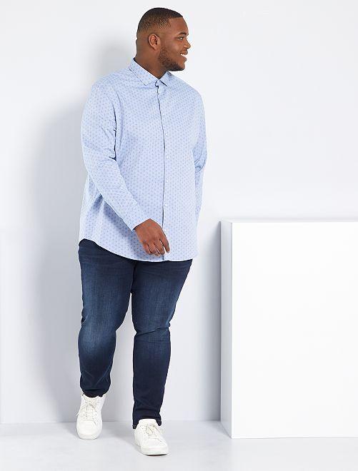 Nauwsluitende jeans van stretchkatoen L32                                                                             indigo