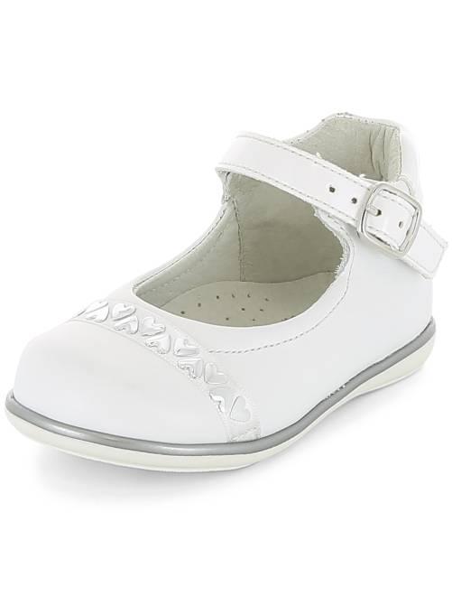 Nette schoenen met hartjes                             wit Meisjes babykleding