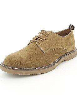 Herenmode maat S-XXL - Nette schoenen van suèdine - Kiabi