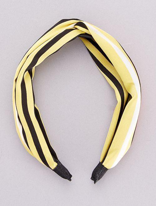 Onbuigzame haarband met sjaaleffect                             geel
