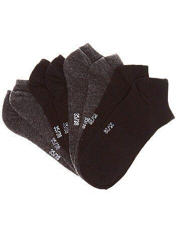 'Onzichtbare' sokken per set van 4 paar - Kiabi