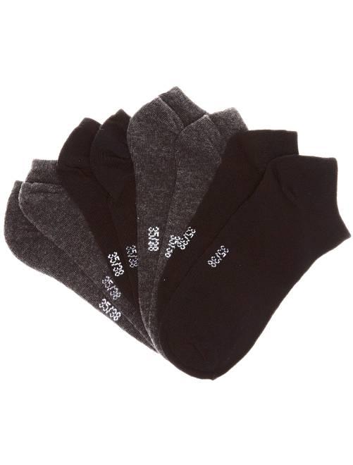 'Onzichtbare' sokken per set van 4 paar                                         zwart / grijs