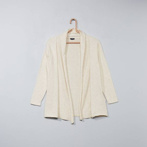 Verbazingwekkend Open vest met sjaalkraag Kinderkleding meisjes - Kiabi - 9,00€ RJ-42