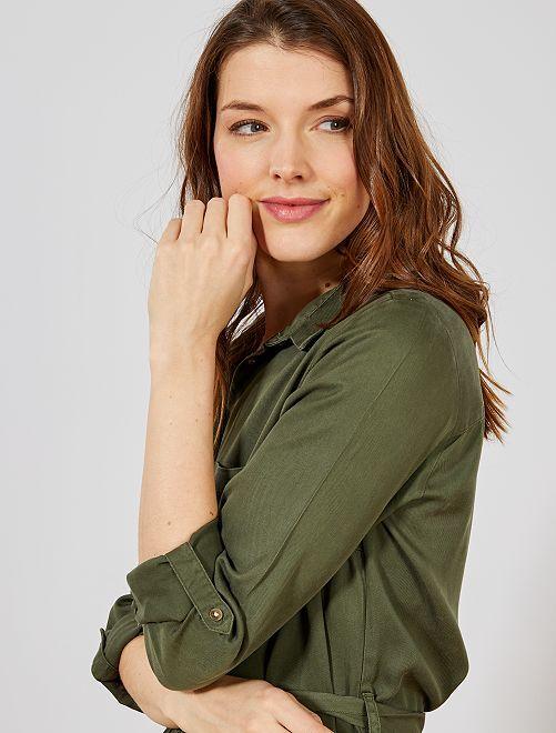 3ec0cf7f19e377 Overhemd-jurk met riem Dameskleding - Kiabi - 20