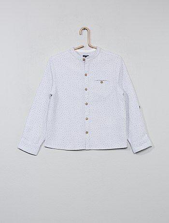 Overhemd met kleine prints en een maokraag - Kiabi