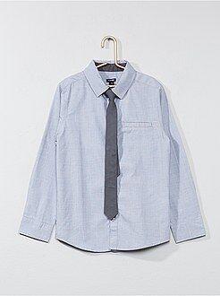 Kinder shirts - Overhemd met lange mouwen en een stropdas
