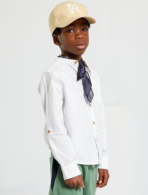 Overhemd met maokraag                                                                 wit