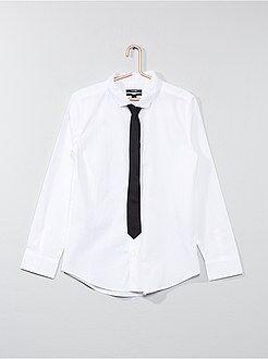 Jongenskleding 10-18 jaar Overhemd met stropdas