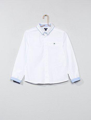 Overhemd van getextureerd katoen - Kiabi