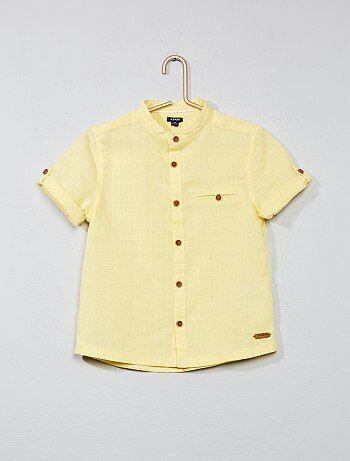 Overhemd van katoen en linnen - Kiabi
