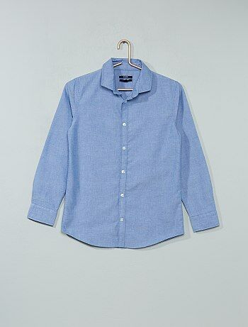 Overhemd van knisperend katoen - Kiabi