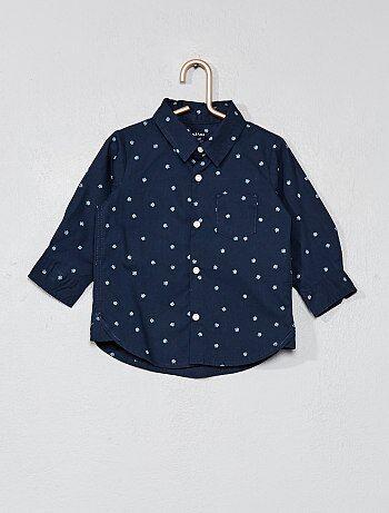 Overhemd van knisperend katoen met vlokken - Kiabi