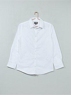 Jongenskleding 10-18 jaar Overhemd van knisperend katoen
