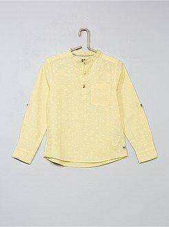 Overhemd van linnen en katoen - Kiabi