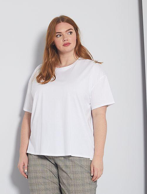 Oversized basic T-shirt                                                     wit