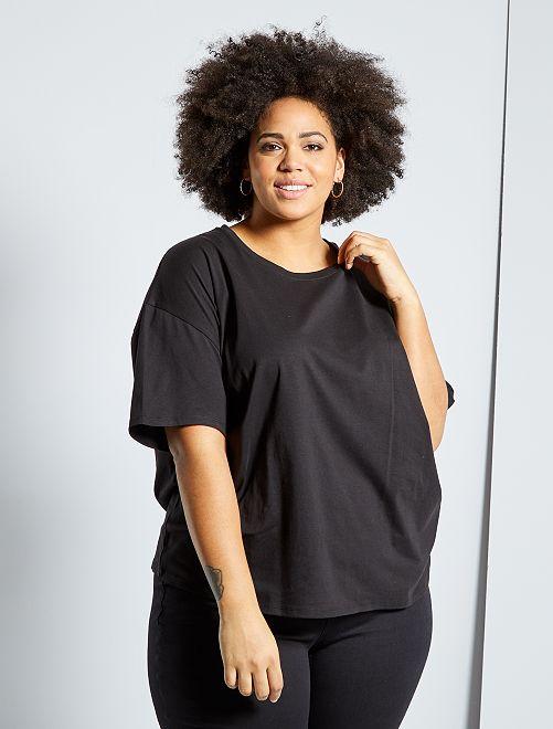 Oversized basic T-shirt                                                     zwart