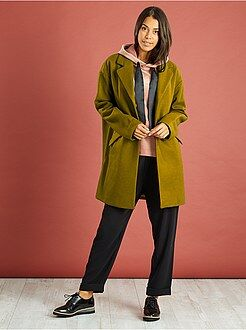 Oversized jas met wol
