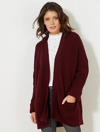 Oversized vest van grof tricot - Kiabi