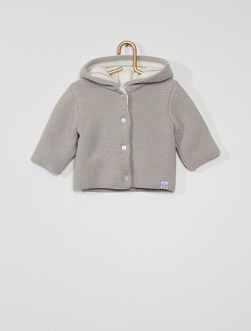 Paletot van tricot 'La Manufacture de Layette'                                         GRIJS