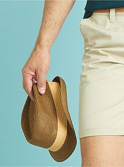 Accessoires - Panamahoed met korte rand
