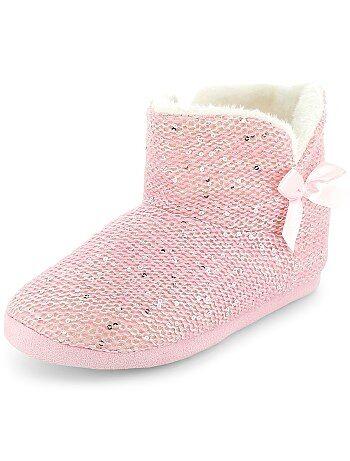 Pantoffellaarsjes met lovertjes - Kiabi