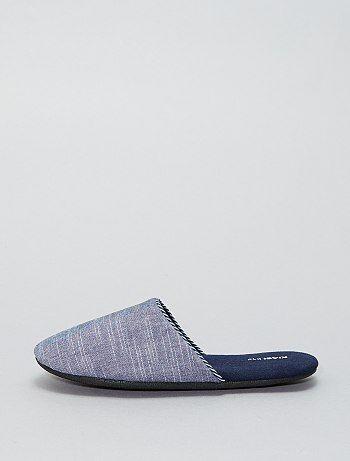 Pantoffels met fleecevoering - Kiabi