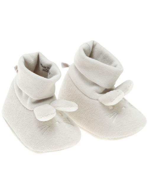 Pantoffels met konijn                                                     grijs Jongens babykleding