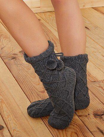 Pantoffels met warme voering - Kiabi