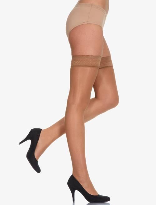 Panty kousen van 'Dim' Beauty Resist 'Dim Up'                                         bruin Lingerie maat s-xxl