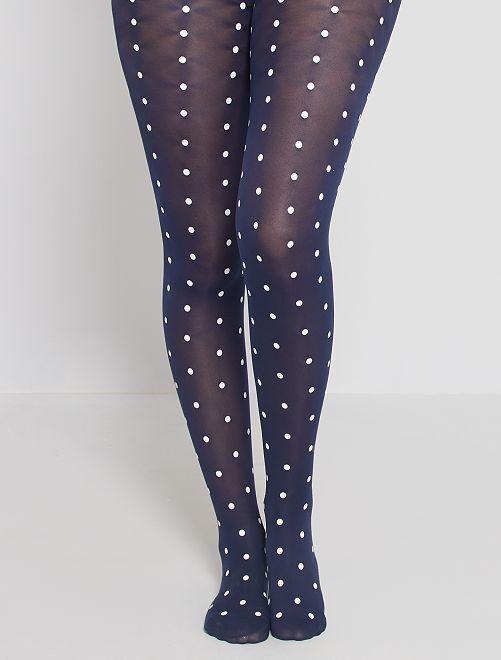 Panty's DIM Style retrostippen 40D                             zwart / wit