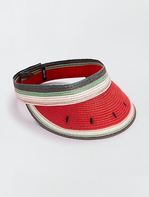 Pet met klep in watermeloenvorm                             rood
