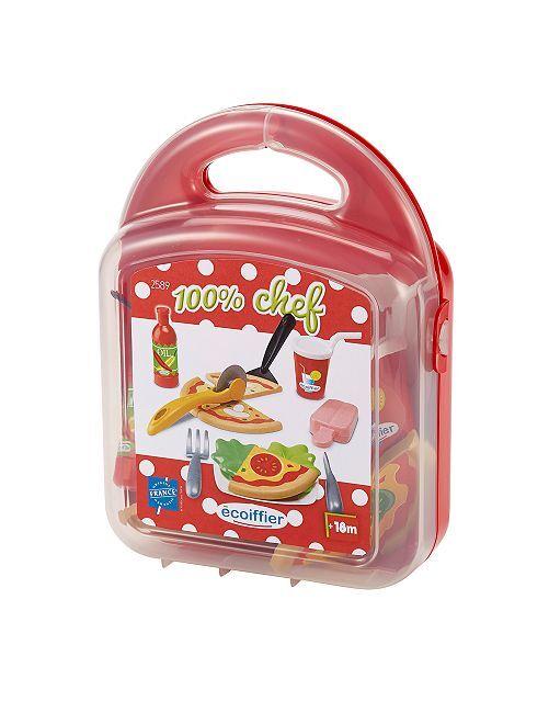 Pizzakoffertje                             rood