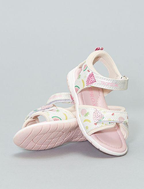 Platte sandalen 'fruit'                             GRIJS Kinderkleding meisjes