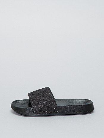 Platte sandalen met pailletten - Kiabi