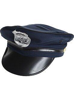 Politiepet met vizier en insigne