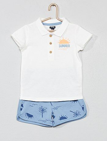 98200d2ae84 Jongen 0-36 maanden - Polo en short 'Summer' - Kiabi