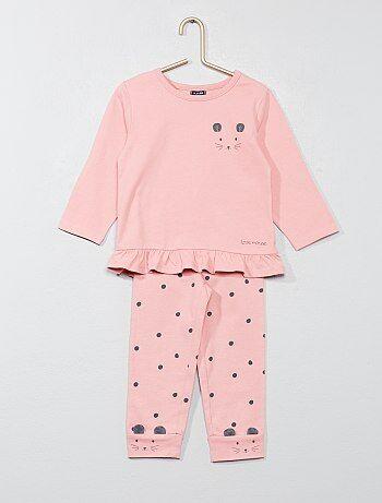 Meisje 0-36 maanden - Pyjama met muizenprint - Kiabi