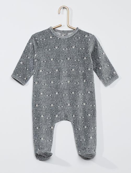 Pyjama met print 'Ecodesign'                                                                                                                                                                                                                             GRIJS