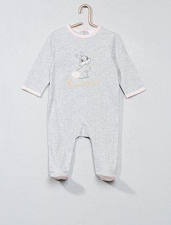 Pyjama met print van 'Miss Bunny' - Kiabi