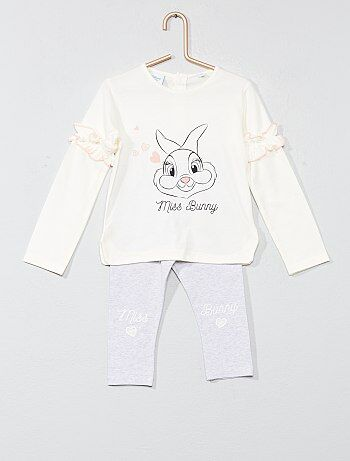 Pyjama met ruches van 'Miss Bunny' - Kiabi