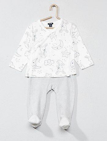 Jongen 0-36 maanden - Pyjama met sterrenprint - Kiabi