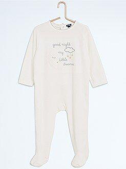 Pyjama, badjas - Pyjama met voetjes en nachtprint - Kiabi