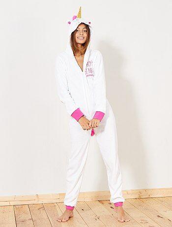 Pyjama-onesie met eenhoorn - Kiabi