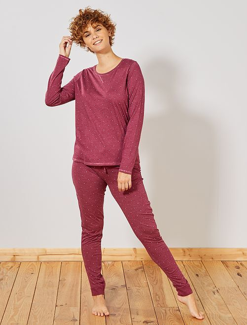 Pyjama van hoofdzakelijk biologisch katoen                                                                                         ROOD