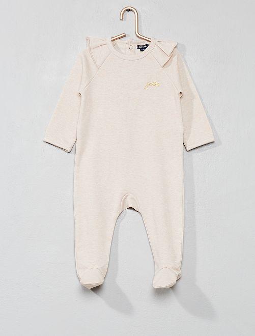 Pyjama van joggingstof met ruches                                         ROSE Meisjes babykleding