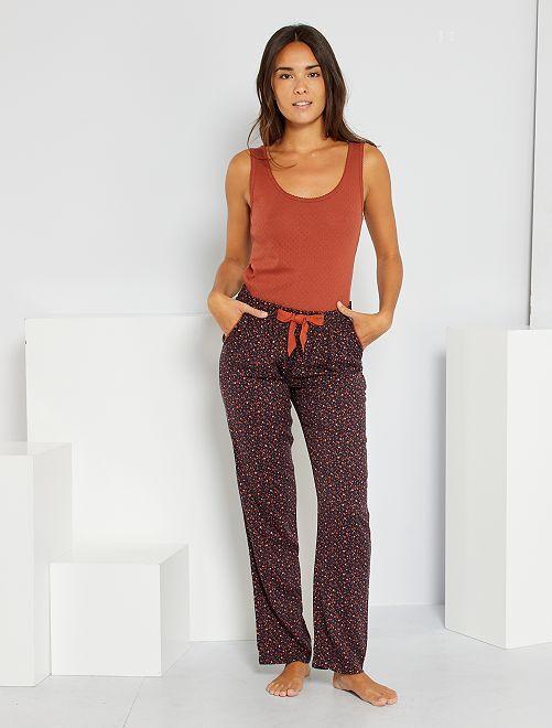 Pyjamabroek met print                                                     BLAUW