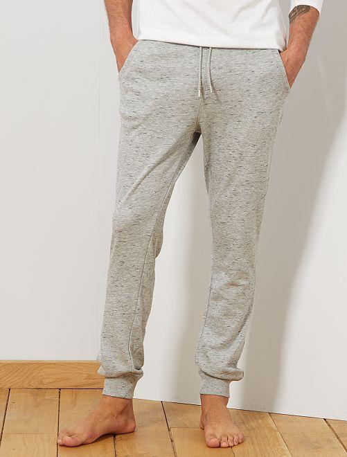 Pyjamabroek van joggingstof                                                     GRIJS Herenkleding