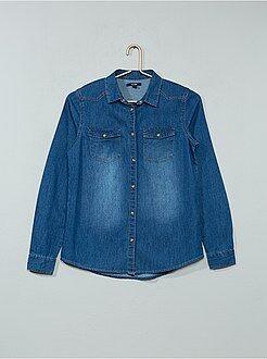Kinderblouse - Recht denim overhemd - Kiabi